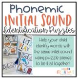 Phonemic Awareness-  Initial Sound identification puzzles
