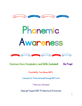 Phonemic Awareness Intervention (One Week Free Sample) - 5 minutes a day!)