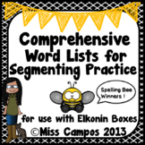 Phonemic Awareness: Leveled Word Lists for Segmenting Practice & Elkonin Boxes