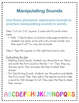 Phonemic Awareness Manipulating Sounds