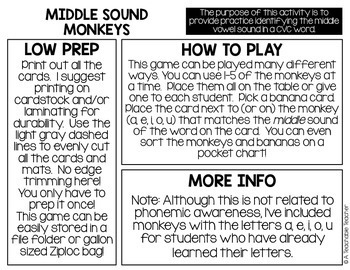 Phonemic Awareness - Medial Sounds