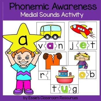 Phonemic Awareness Medial Sounds Activity