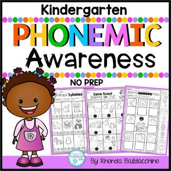 Phonemic Awareness NO Prep Printables