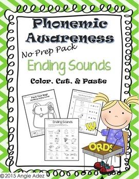 Phonemic Awareness No Prep Pack- Ending Sounds