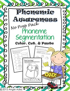 Phonemic Awareness No Prep Pack- Phoneme Segmentation