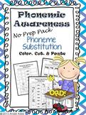 Phonemic Awareness No Prep Pack- Phoneme Substitution