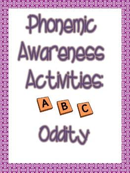 Phonemic Awareness Oddity Packet