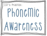 Phonemic Awareness Packet - Powerpoint