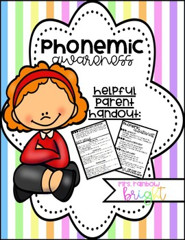 Phonemic Awareness Parent Handout