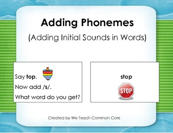 Phonemic Awareness Phoneme Addition Matching Activity