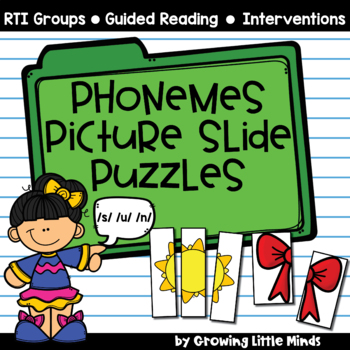 Phonemic Awareness:  Phoneme Picture Slide Puzzles