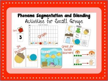 Phonemic Awareness -RTI Phoneme Segmentation and Blending Activities and Centers