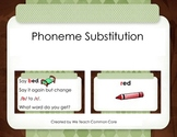 Phonemic Awareness Phoneme Substitution Matching Activity- Changing Sounds