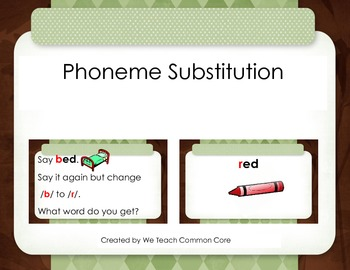 Phonemic Awareness Phoneme Substitution Matching Activity-