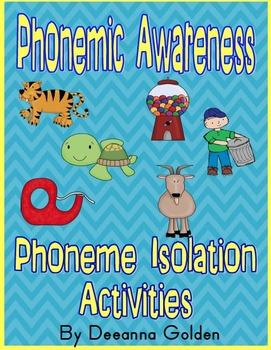 Phonemic Awareness - Phonemic Isolation Activities