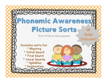 Phonemic Awareness Picture Sorts