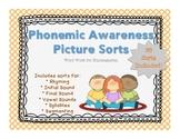 Phonemic Awareness Picture Sorts