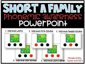 Phonemic Awareness PowerPoint- (Short A CVC Words PowerPoint)
