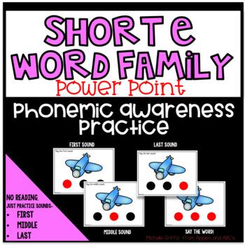 Phonemic Awareness PowerPoint- (Short E CVC Words PowerPoint)