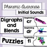 Phonemic Awareness Puzzle: Initial Digraphs and Blends
