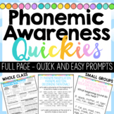 Phonemic Awareness Quick Prompts - full page version