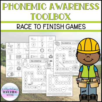 Phonemic Awareness Toolbox - Race to Finish Game Boards
