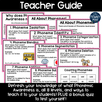 Phonemic Awareness Refresher and Assessments