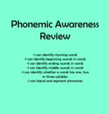 Phonemic Awareness Review