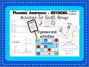 Phonemic Awareness - Rhyming Activities and Centers