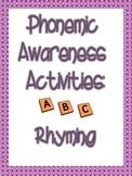 Phonemic Awareness Rhyming Packet