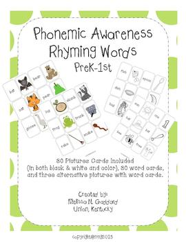 Phonemic Awareness Rhyming Word Cards