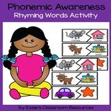 Phonemic Awareness - Rhyming Words Activity