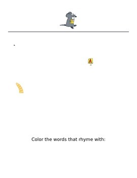 Phonemic Awareness Rhyming Words Coloring Sheets