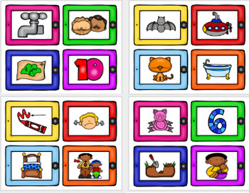 Phonemic Awareness: Rhyming Words (iPad Theme)