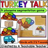 Phonemic Awareness - Segmenting Sounds Thanksgiving Edition