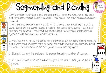 Phonemic Awareness - Segmenting and Blending