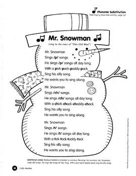 Phonemic Awareness Songs and Rhymes Winter