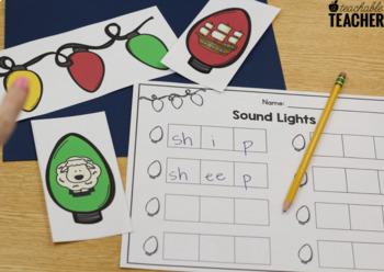 Phonemic Awareness - Sound Lights {Christmas Edition}