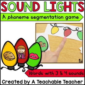 Christmas Activities | Phonemic Awareness - Sound Lights {Christmas Edition}