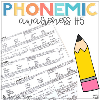 Phonemic Awareness - Systematic, Explicit Instruction for Primary Students #5