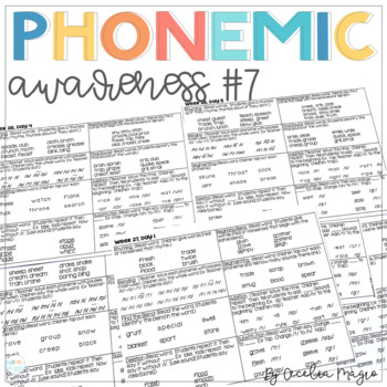 Phonemic Awareness - Systematic, Explicit Instruction for Primary Students #7