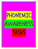 Phonemic Awareness Task Cards