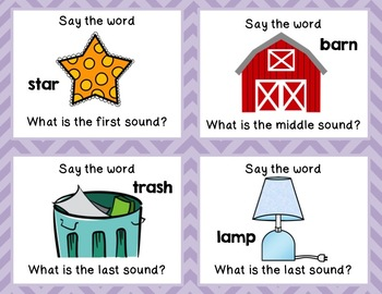 Phonemic Awareness Task Cards: Initial, Medial, Final Sounds