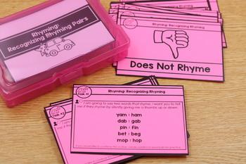 Phonemic Awareness Task Cards & Activities Toolkit