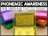 Phonemic Awareness Task Cards & Activities Toolkit