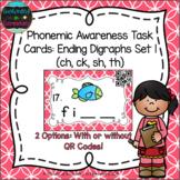 Phonemic Awareness Task Cards: Ending Digraphs Set 1