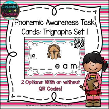 Phonemic Awareness Task Cards: Beginning Trigraphs Set 1