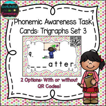 Phonemic Awareness Task Cards: Beginning Trigraphs Set 3