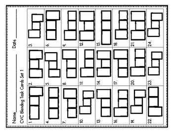 Phonemic Awareness Task Cards: CVC Blending Set 1