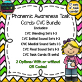 Phonemic Awareness Task Cards: CVC Bundle